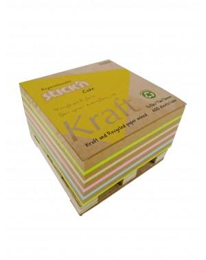 Notas adhesivas papel reciclado, papel kraft