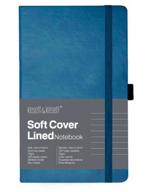 Libreta de notas azul hojas rayadas