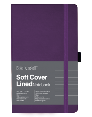 Libreta de notas color magenta ideal para organizar tus ideas