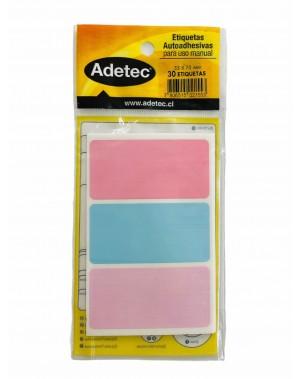 Etiqueta adhesiva rectangular tricolor pastel