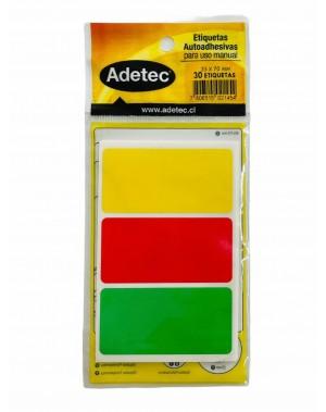 Etiqueta adhesiva rectangular tricolor tradicional