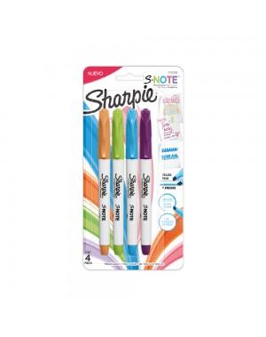sharpie resaltador s-note colores intensos...