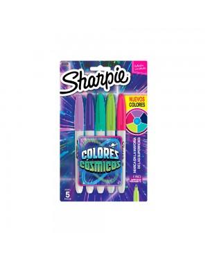 sharpie marcador colores cosmicos blister x 5
