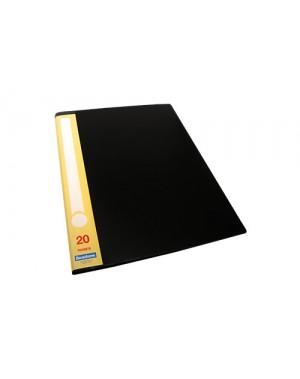 File catalogo A4 color negro por 20 micas