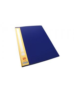 File catalogo A4 color azul, 20 micas