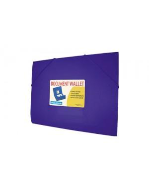 Porta documento con liga A4 azul