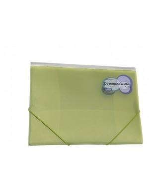 Porta documento con liga A4 cristal verde